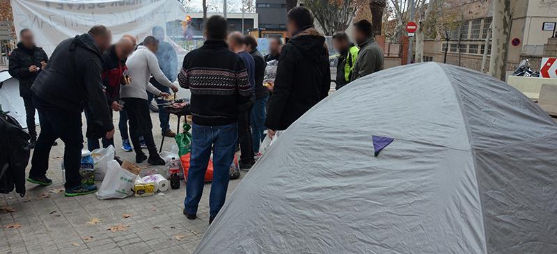 Secció Sindical SPPM Cat de l'Ajuntament de Sabadell-Continuen les acampades per reivindicar millores