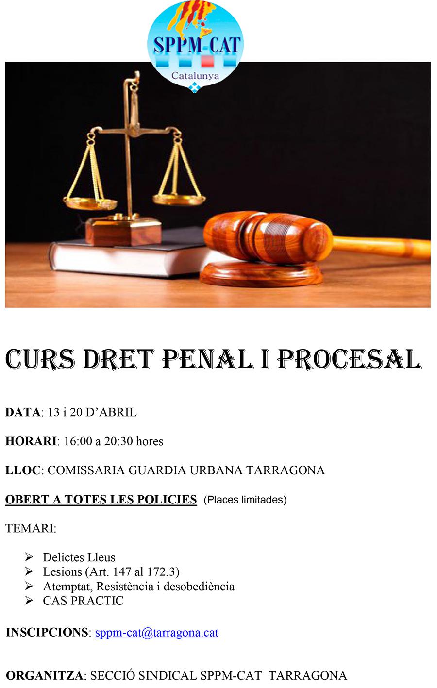 Secció sindical SPPM Cat de Tarragona-Curs Dret Penal i Procesal
