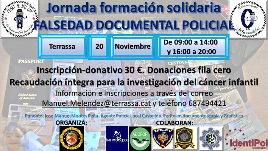 Jornada formación solidaria FALSEDAD DOCUMENTAL POLICIAL