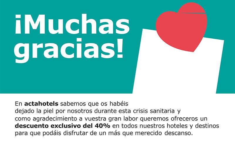 SPLCME- Descuento del 40% en Actahotels
